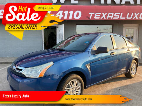 2008 Ford Focus for sale at Texas Luxury Auto in Cedar Hill TX
