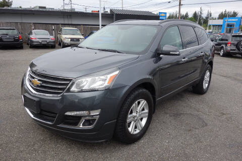 2013 Chevrolet Traverse for sale at Leavitt Auto Sales and Used Car City in Everett WA