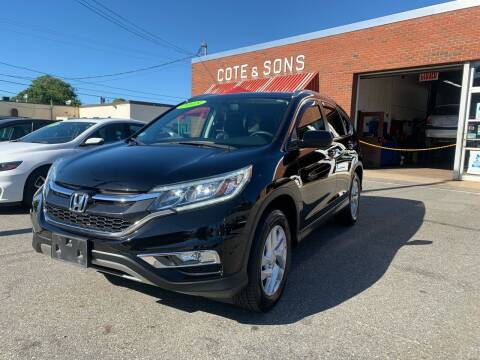2015 Honda CR-V for sale at Cote & Sons Automotive Ctr in Lawrence MA