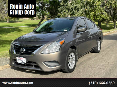 2015 Nissan Versa for sale at Ronin Auto Group Corp in Sun Valley CA