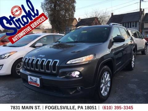 2018 Jeep Cherokee for sale at Strohl Automotive Services in Fogelsville PA