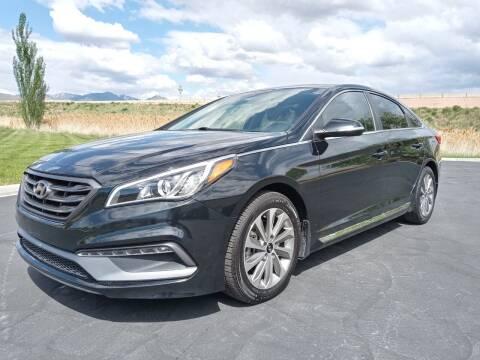 2015 Hyundai Sonata for sale at AUTOMOTIVE SOLUTIONS in Salt Lake City UT