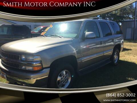 2001 Chevrolet Tahoe for sale at Smith Motor Company INC in Mc Cormick SC