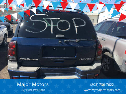 2003 Chevrolet TrailBlazer for sale at Major Motors in Twin Falls ID