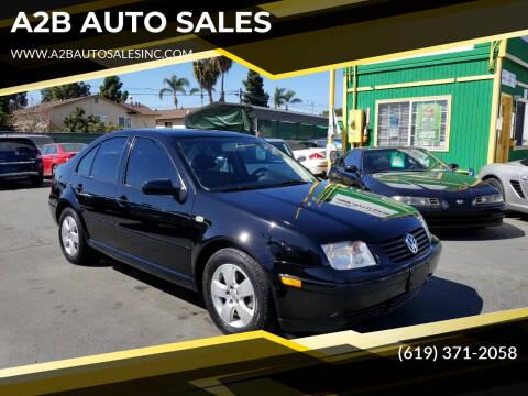 2003 Volkswagen Jetta for sale at A2B AUTO SALES in Chula Vista CA