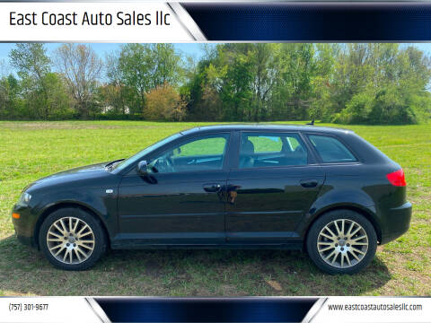 2008 Audi A3 for sale at East Coast Auto Sales llc in Virginia Beach VA