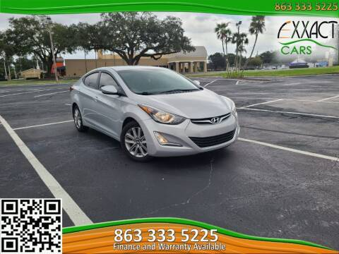 2014 Hyundai Elantra for sale at Exxact Cars in Lakeland FL