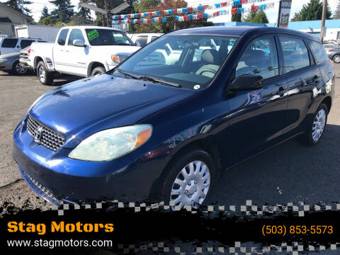 2004 Toyota Matrix for sale at Stag Motors in Portland OR
