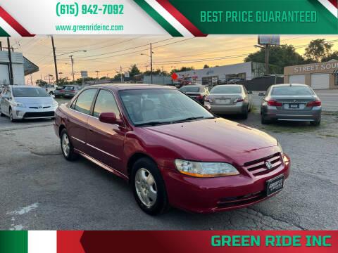 2001 Honda Accord for sale at Green Ride Inc in Nashville TN