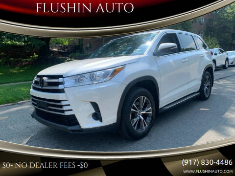 2018 Toyota Highlander for sale at FLUSHIN AUTO in Flushing NY