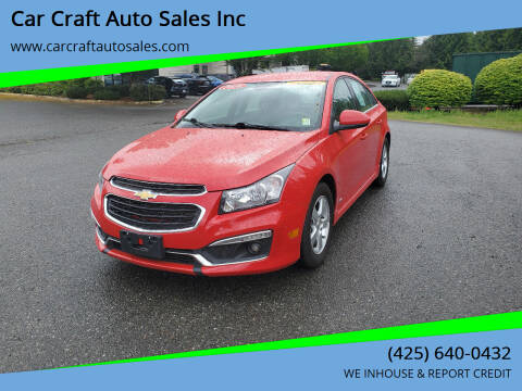 2016 Chevrolet Cruze Limited for sale at Car Craft Auto Sales Inc in Lynnwood WA