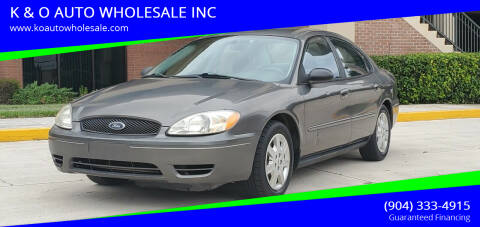 2005 Ford Taurus for sale at K & O AUTO WHOLESALE INC in Jacksonville FL
