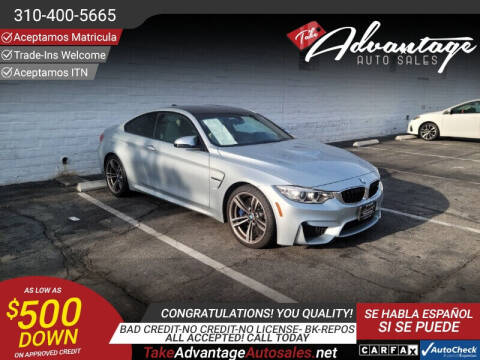 2015 BMW M4 for sale at ADVANTAGE AUTO SALES INC in Bell CA