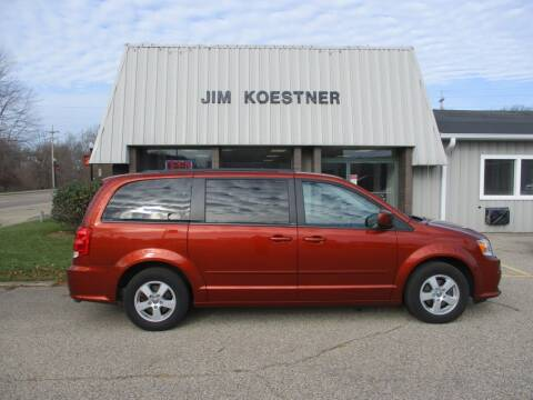 2012 Dodge Grand Caravan for sale at JIM KOESTNER INC in Plainwell MI