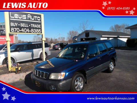 2002 Subaru Forester for sale at LEWIS AUTO in Mountain Home AR