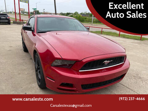 2013 Ford Mustang for sale at Excellent Auto Sales in Grand Prairie TX
