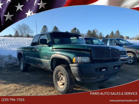 2001 Dodge Ram Pickup 1500 for sale at Paris Auto Sales & Service in Big Rapids MI