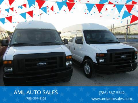 2013 Ford E-Series Wagon for sale at AML AUTO SALES - Passenger Vans in Opa-Locka FL