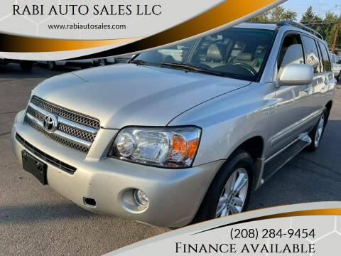2006 Toyota Highlander Hybrid for sale at RABI AUTO SALES LLC in Garden City ID