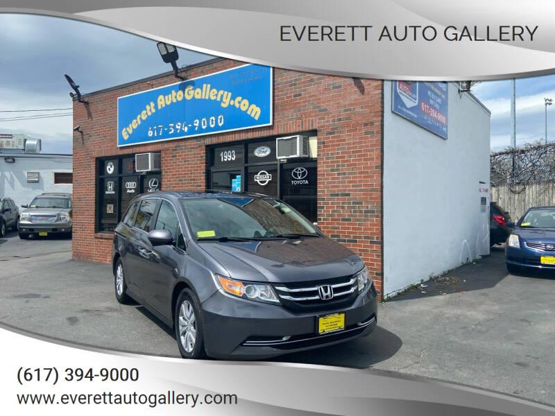 2016 Honda Odyssey for sale at Everett Auto Gallery in Everett MA