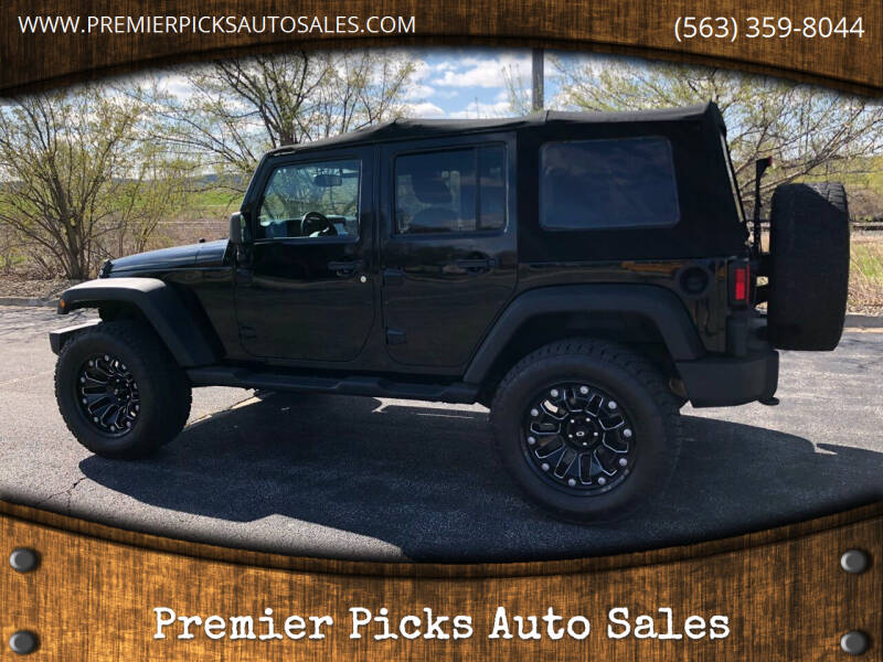 2014 Jeep Wrangler Unlimited for sale at Premier Picks Auto Sales in Bettendorf IA