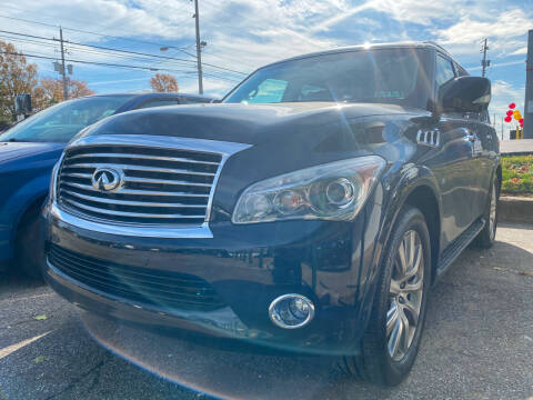 2014 Infiniti QX80 for sale at GREENLIGHT AUTO SALES in Akron OH