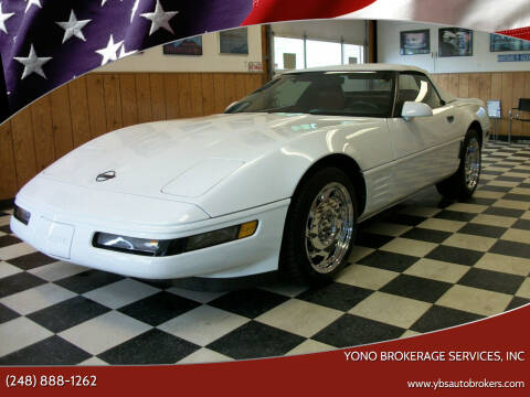 1992 Chevrolet Corvette for sale at Yono Brokerage Services, INC in Farmington MI