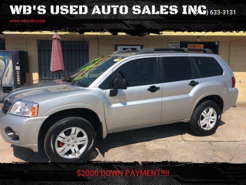 2008 Mitsubishi Endeavor for sale at WB'S USED AUTO SALES INC in Houston TX