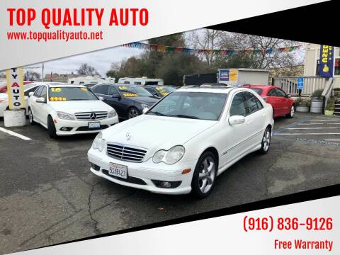 2006 Mercedes-Benz C-Class for sale at TOP QUALITY AUTO in Rancho Cordova CA