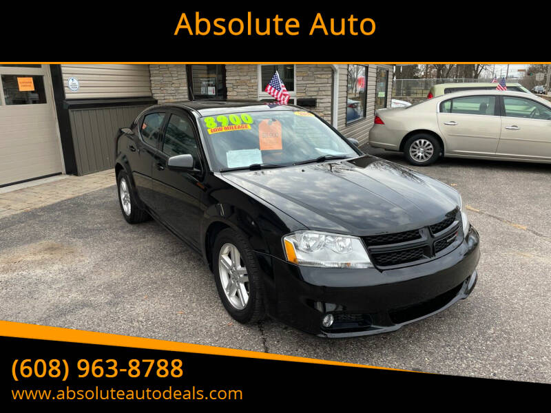 2013 Dodge Avenger for sale at Absolute Auto in Baraboo WI