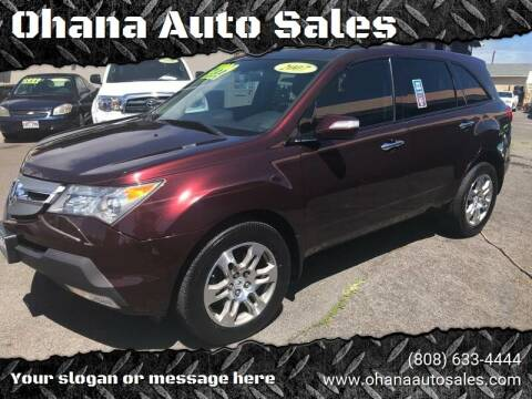 2007 Acura MDX for sale at Ohana Auto Sales in Wailuku HI