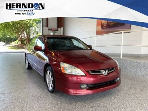 2004 Honda Accord for sale at Herndon Chevrolet in Lexington SC