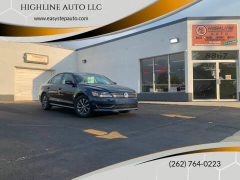 2014 Volkswagen Passat for sale at HIGHLINE AUTO LLC in Kenosha WI
