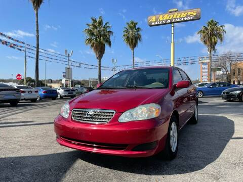 2007 Toyota Corolla for sale at A MOTORS SALES AND FINANCE in San Antonio TX