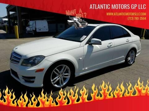 2012 Mercedes-Benz C-Class for sale at ATLANTIC MOTORS GP LLC in Houston TX
