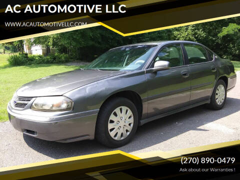 2004 Chevrolet Impala for sale at AC AUTOMOTIVE LLC in Hopkinsville KY