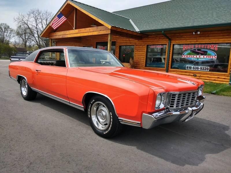 1972 Chevrolet Monte Carlo for sale in Goodrich, MI