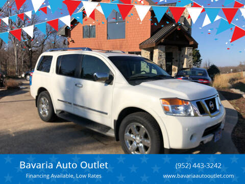 2012 Nissan Armada for sale at Bavaria Auto Outlet in Victoria MN