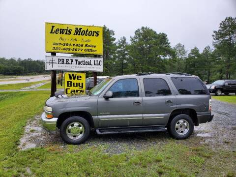 2001 Chevrolet Tahoe for sale at Lewis Motors LLC in Deridder LA