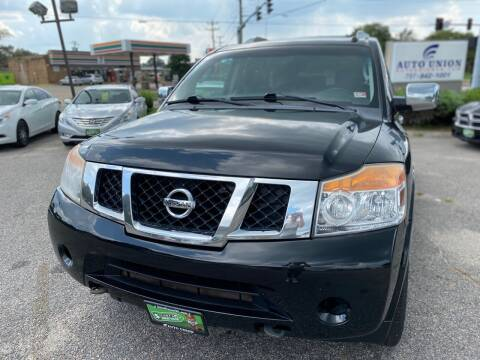 2011 Nissan Armada for sale at Auto Union LLC in Virginia Beach VA