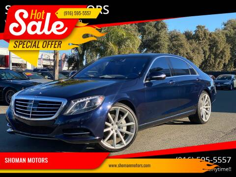 2015 Mercedes-Benz S-Class for sale at SHOMAN AUTO GROUP in Davis CA