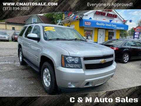 2011 Chevrolet Tahoe for sale at C & M Auto Sales in Detroit MI