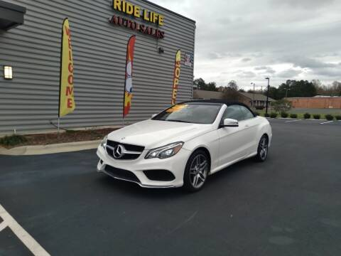 2017 Mercedes-Benz E-Class for sale at Ride Life Auto Sales in Charlotte NC