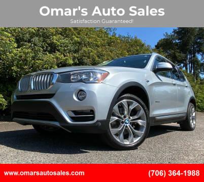 2017 BMW X3 for sale at Omar's Auto Sales in Martinez GA
