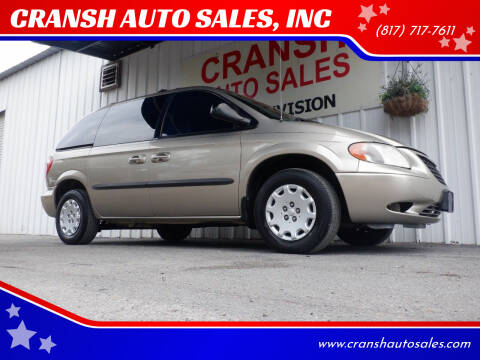 2004 Chrysler Town and Country for sale at CRANSH AUTO SALES, INC in Arlington TX