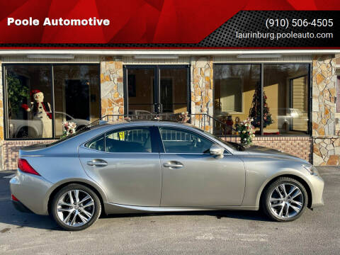 2018 Lexus IS 300 for sale at Poole Automotive in Laurinburg NC