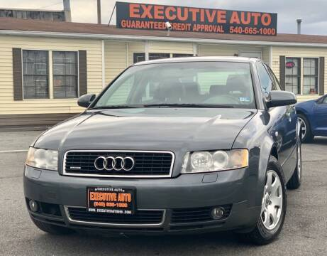 2003 Audi A4 for sale at Executive Auto in Winchester VA