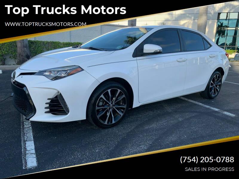 2017 Toyota Corolla for sale at Top Trucks Motors in Pompano Beach FL