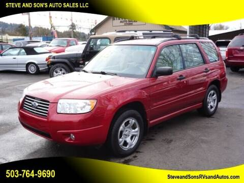 2007 Subaru Forester for sale at Steve & Sons Auto Sales in Happy Valley OR