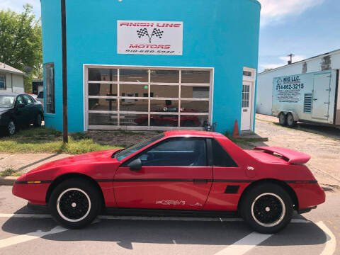 1988 Pontiac Fiero for sale at Finish Line Motors in Tulsa OK